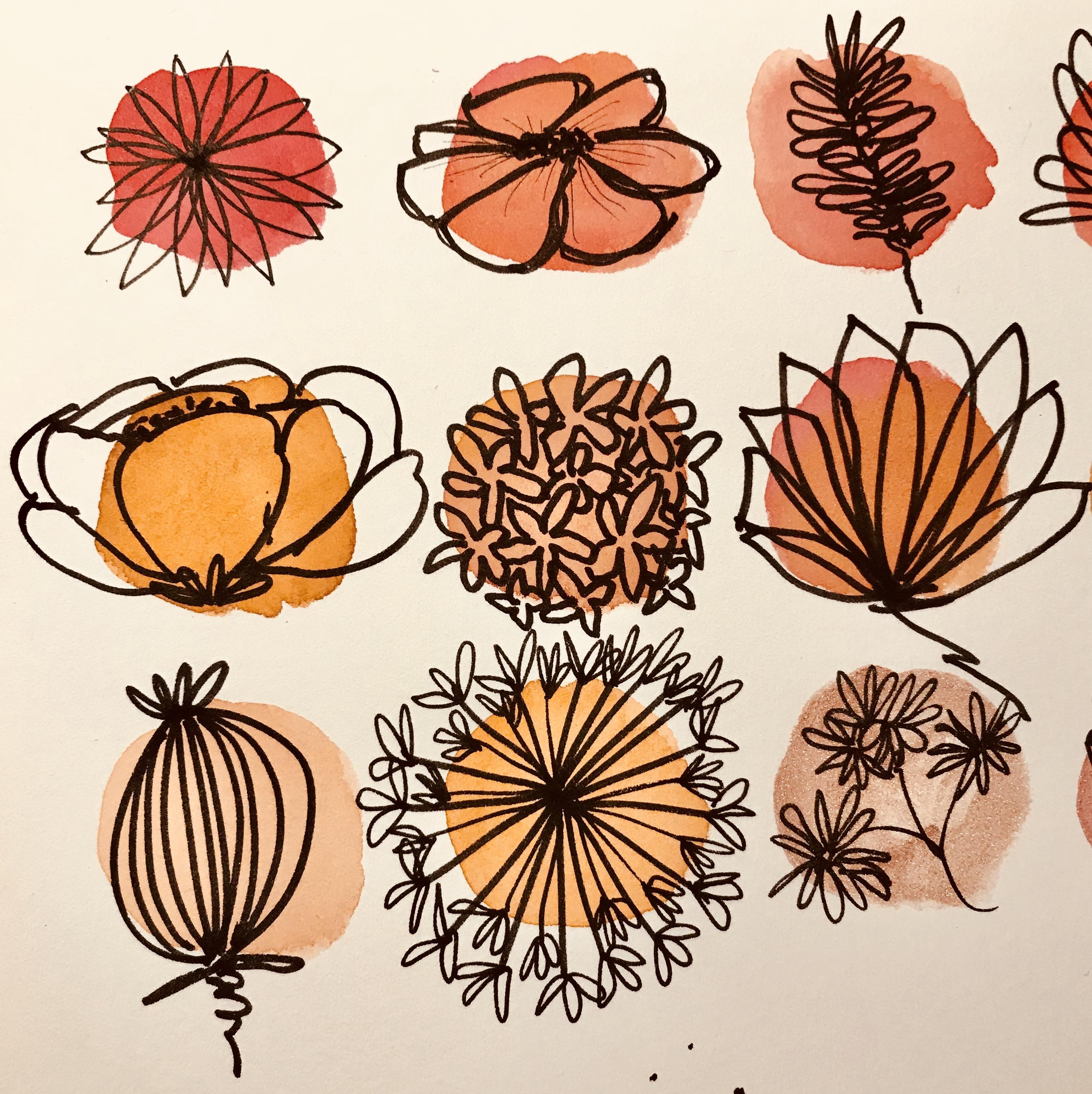 #creativity #creativité #flowerdesign #fleurs #dessin