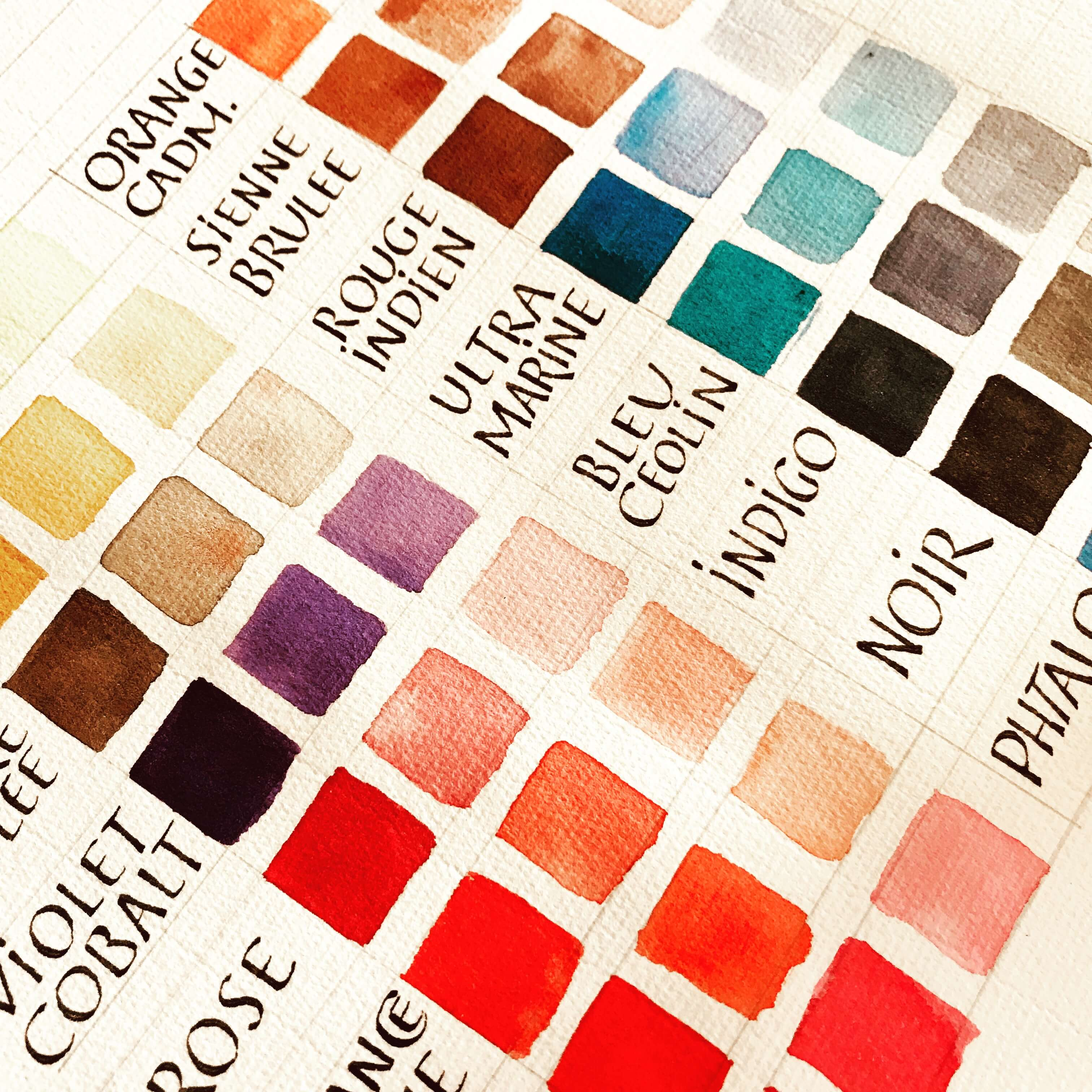 #gouache #color #inspiration #colorchart #colorpalette #colorcombination #couleur