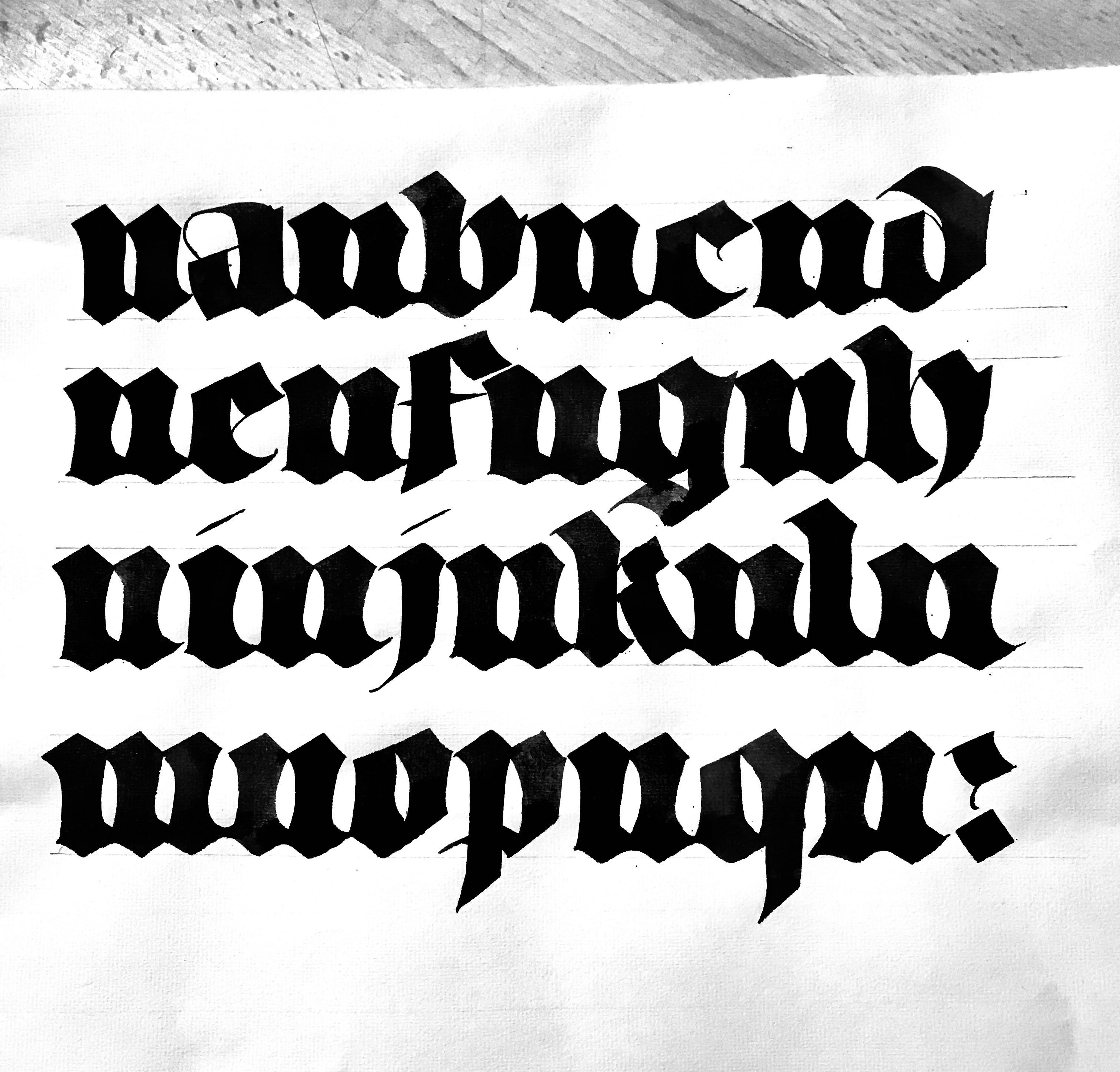 #calligraphie #calligraphy #gothique #gothic #textura